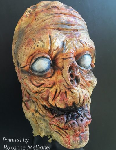 Zombie Latex Mask. Painted by Roxanne McDanel.