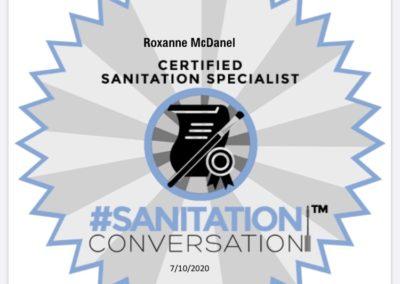 Sanitation conversation cert